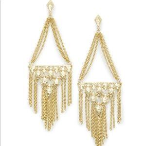Kendra Scott Gold Chandelier Earrings nwot